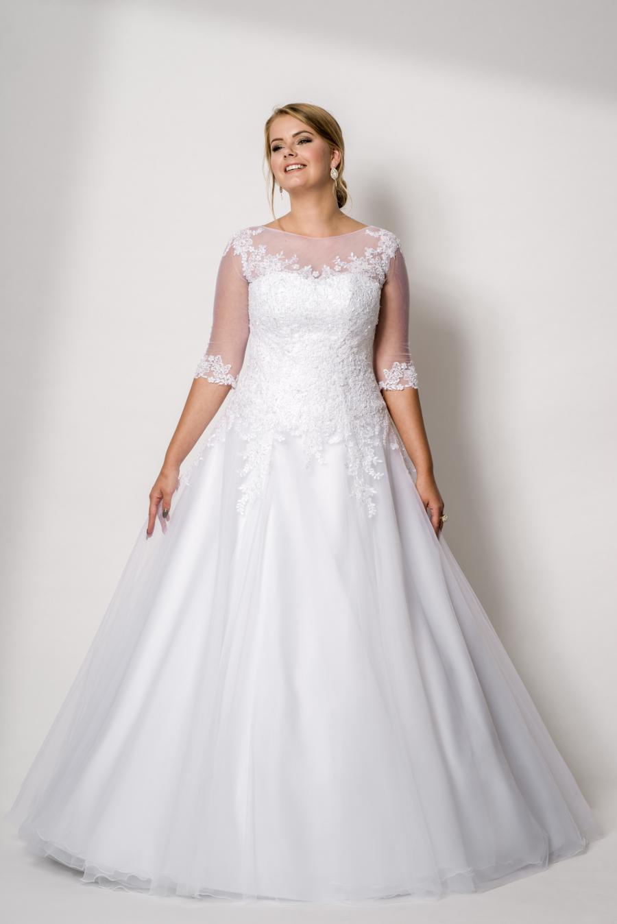 plus size svatební šaty Anastasie