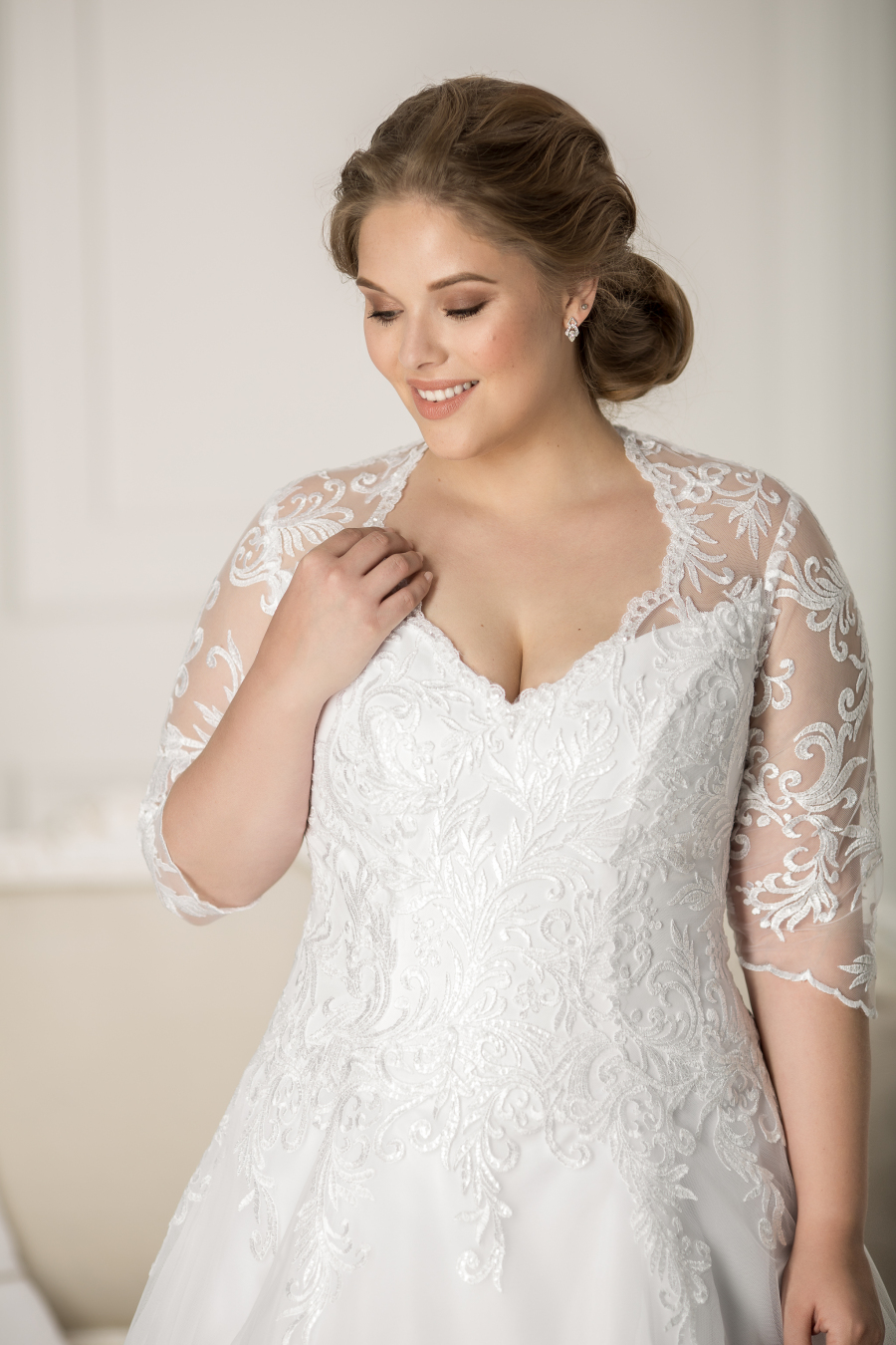 plus size wedding dress Versailles