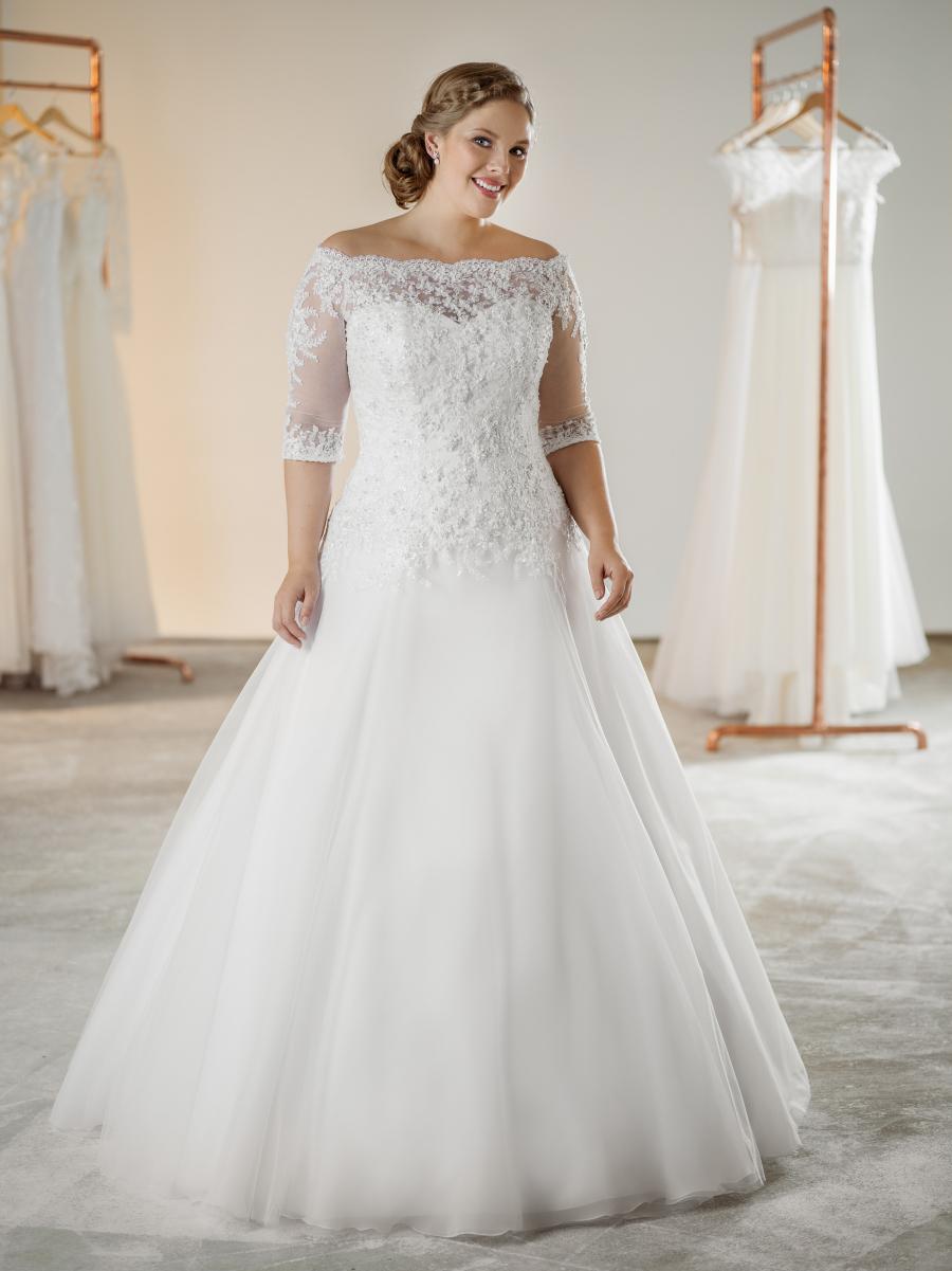 plus size svatební šaty Veronica