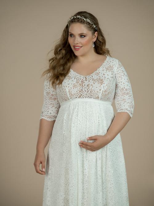 těhotenské svatební šaty Layla