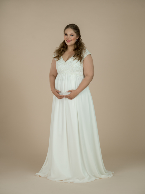 těhotenské svatební šaty Carlie