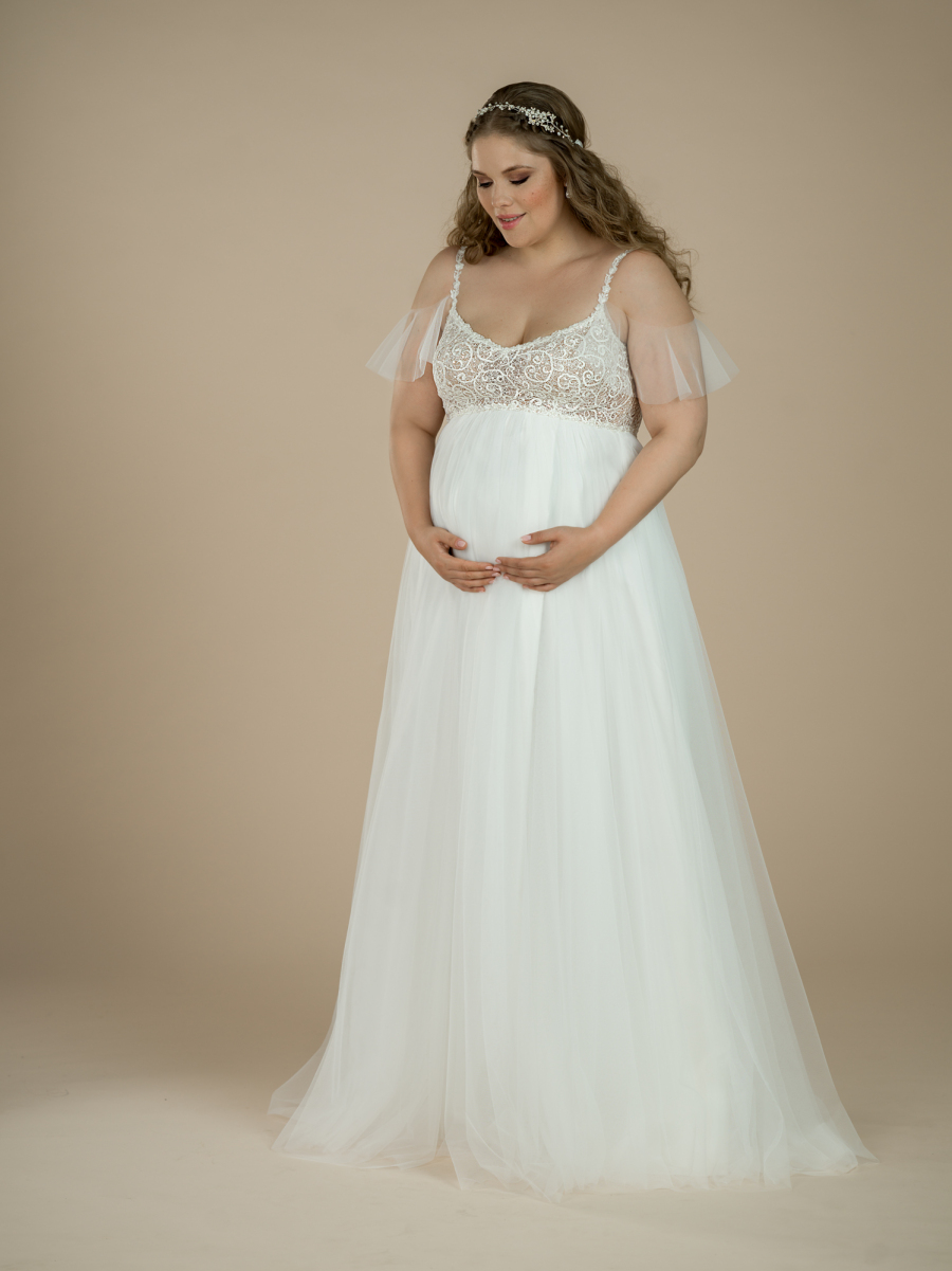 maternity wedding dress River