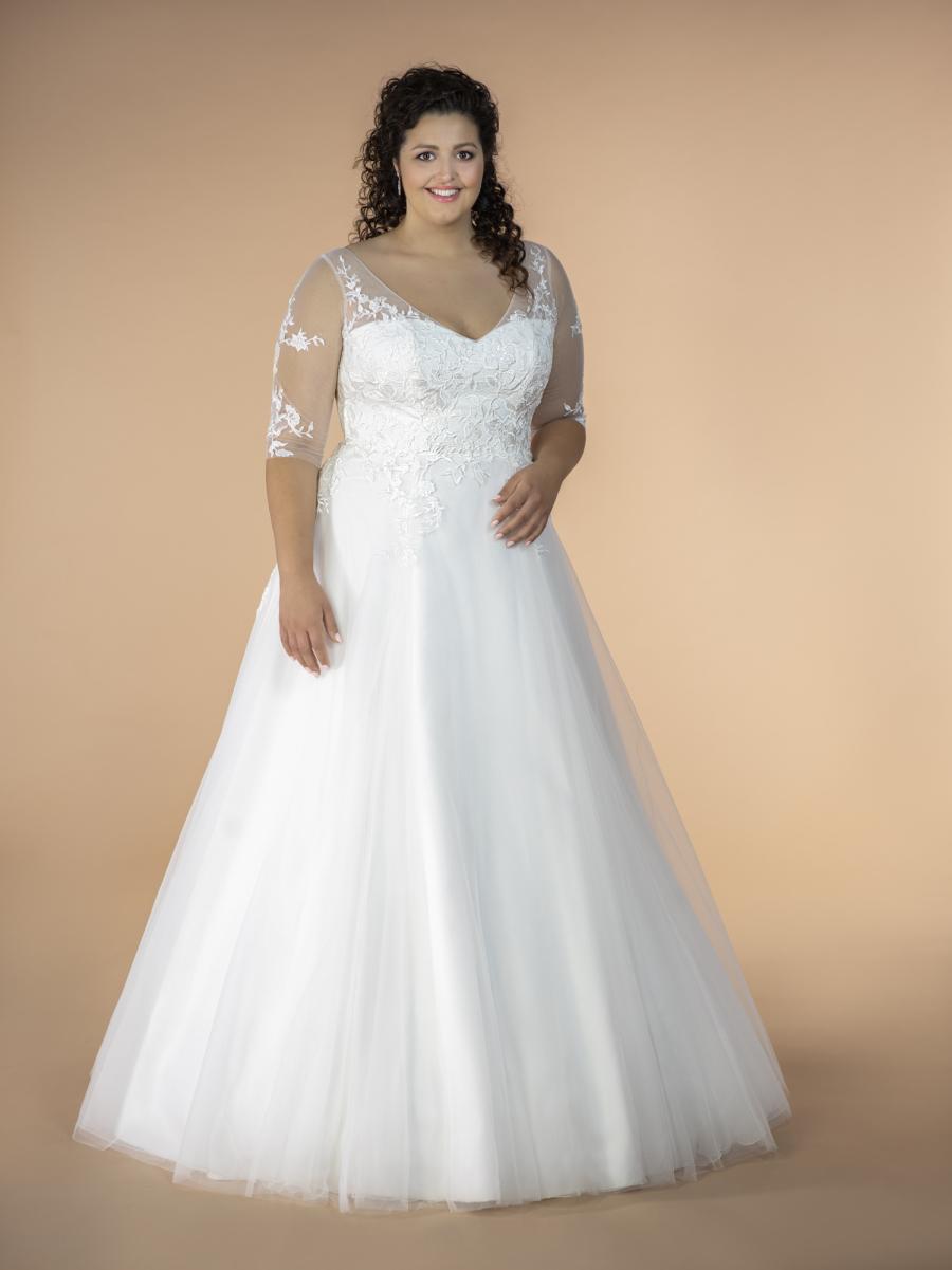 plus size svatební šaty Andy