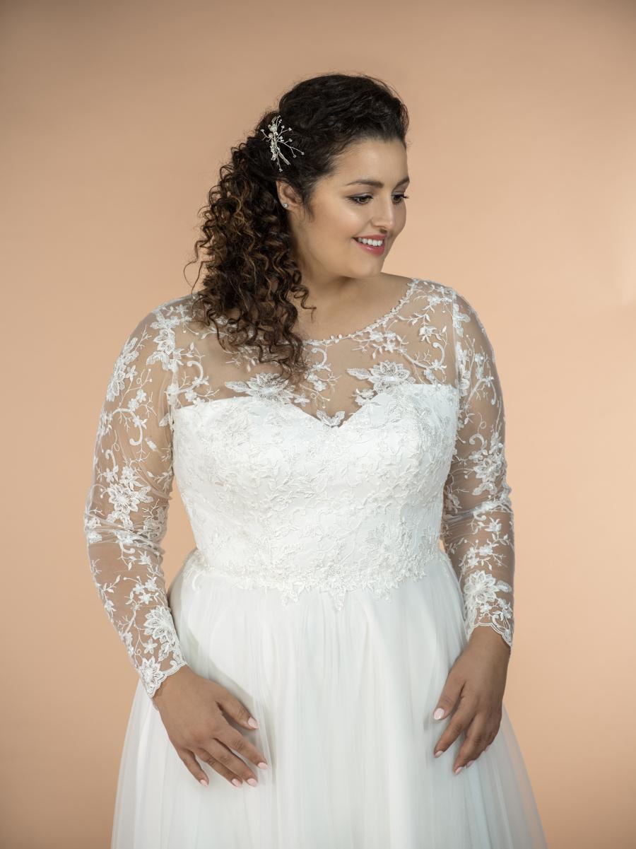 plus size svatební šaty Jasmine