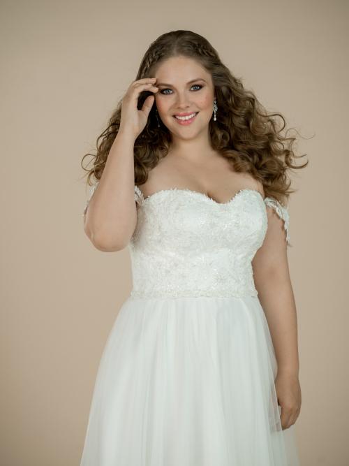 plus size svatební šaty Lola