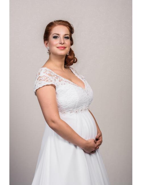 těhotenské svatební šaty 1506